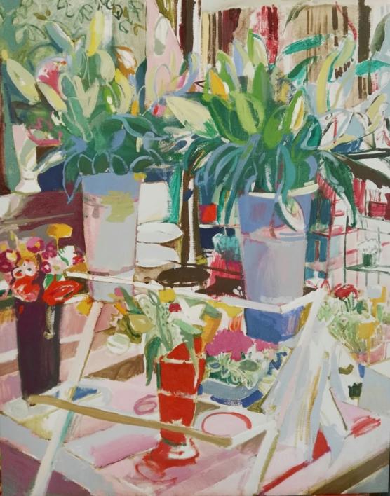 Mañana de otoño en Tirso de Molina |Pintura de Carlota Rios | Compra arte en Flecha.es