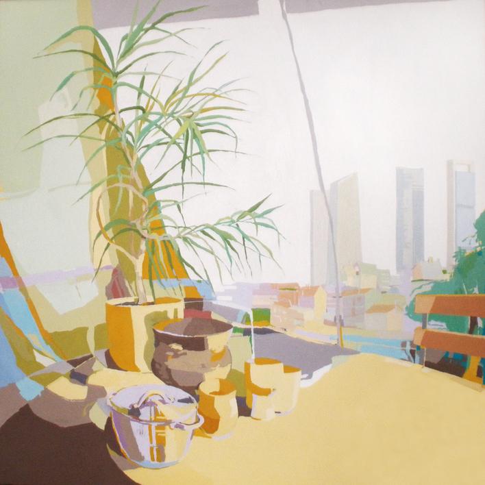 Tarros y torres |Pintura de Javier AOIZ ORDUNA | Compra arte en Flecha.es