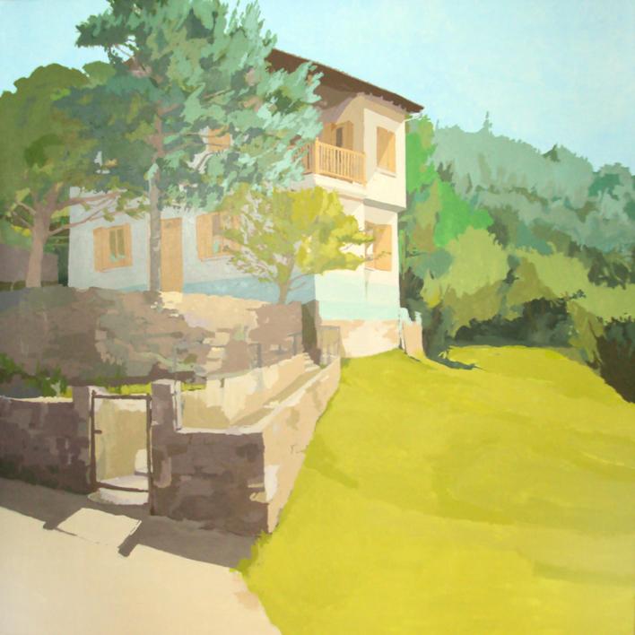 Un verano en Roncal |Pintura de Javier AOIZ ORDUNA | Compra arte en Flecha.es