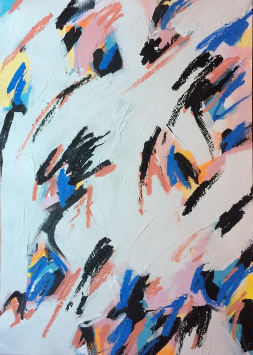 Catch The Wind   Pintura de Rocío Cervera   Compra arte en Flecha.es