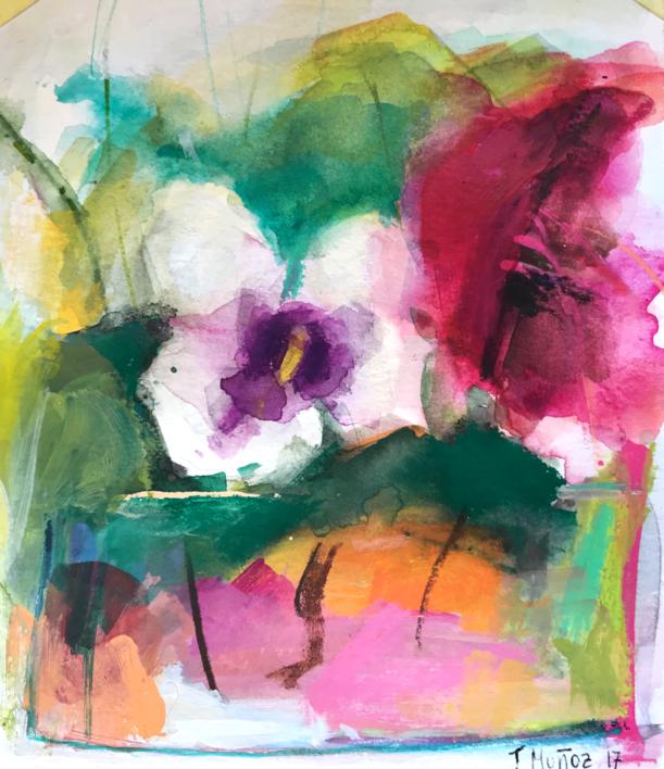 Lugares y Jardines Imaginarios XVIII |Pintura de Teresa Muñoz | Compra arte en Flecha.es