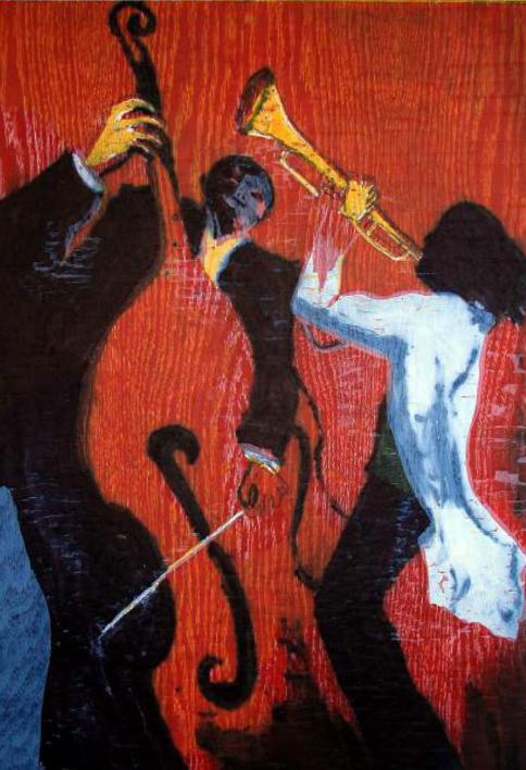 Jazz dueto II |Obra gráfica de Jenifer Carey | Compra arte en Flecha.es