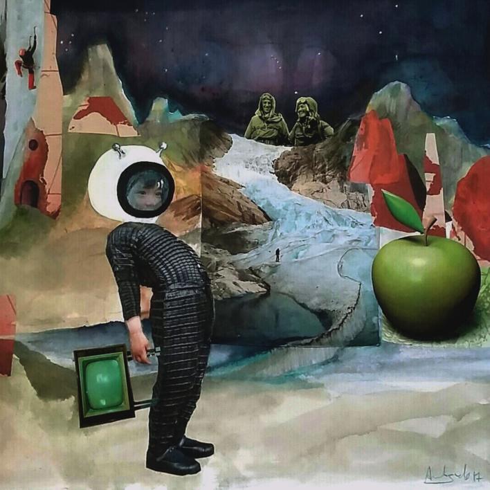 los mensajeros |Collage de Ana Agudo | Compra arte en Flecha.es