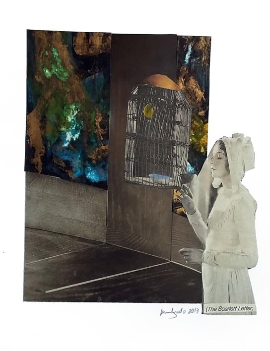 la letra escarlata |Collage de Ana Agudo | Compra arte en Flecha.es