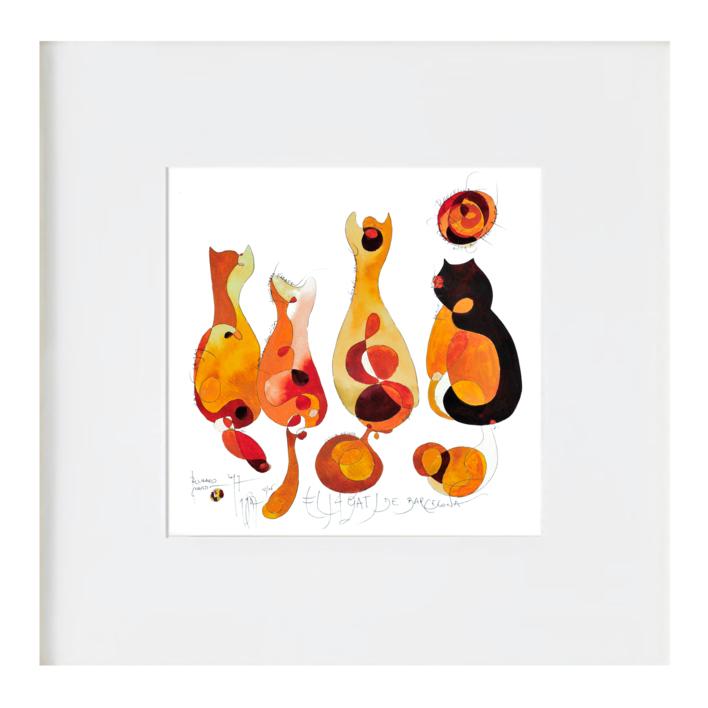 Els 4 Gats |Ilustración de RICHARD MARTIN | Compra arte en Flecha.es