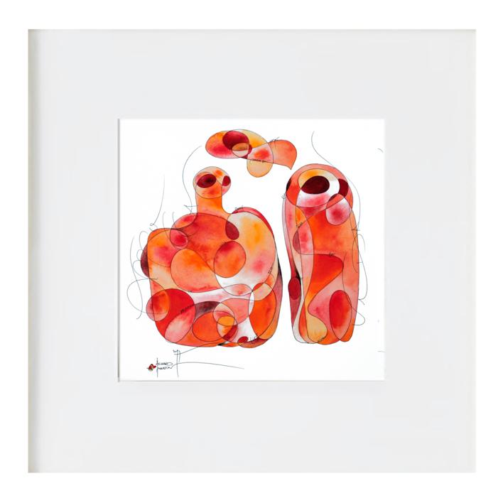 la botella y la vida |Ilustración de richard martin | Compra arte en Flecha.es