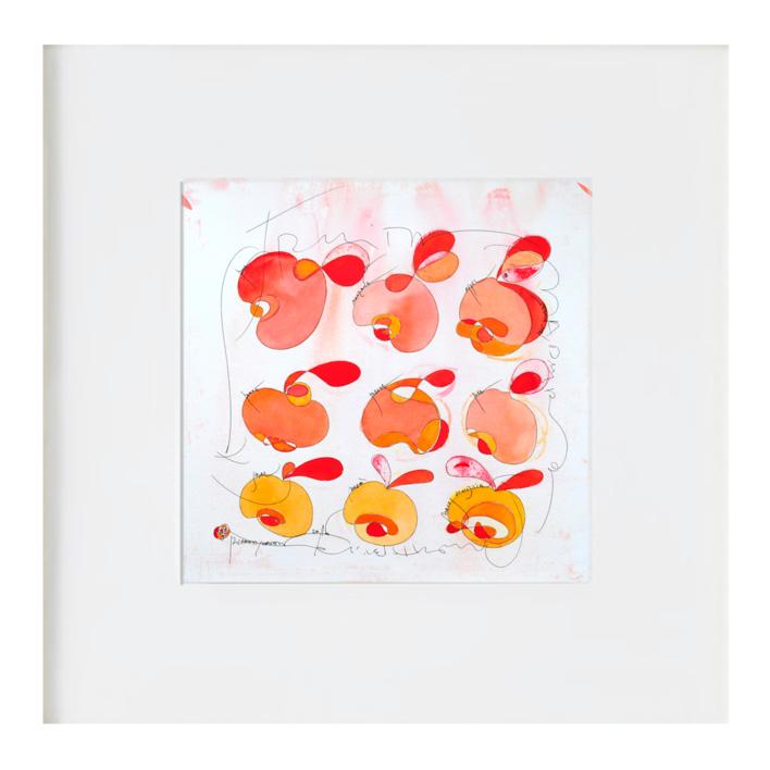 La manzana prohibida |Ilustración de richard martin | Compra arte en Flecha.es
