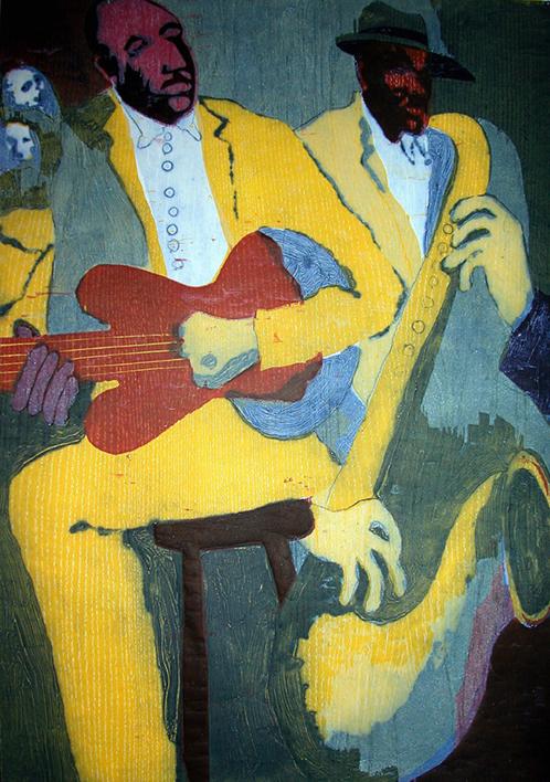 Jazz dueto IV |Obra gráfica de Jenifer Carey | Compra arte en Flecha.es