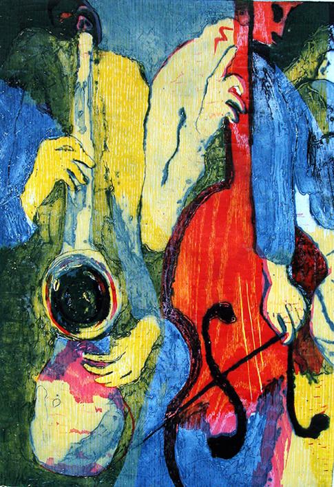 Jazz dueto I |Obra gráfica de Jenifer Carey | Compra arte en Flecha.es