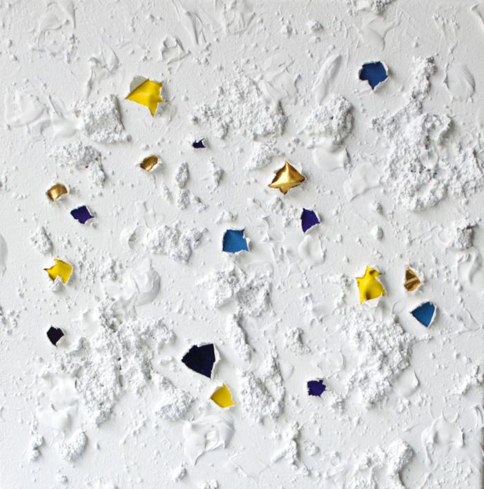 EMeRGeNCIaS Gold and Blue  Pintura de COVA RIOS   Compra arte en Flecha.es