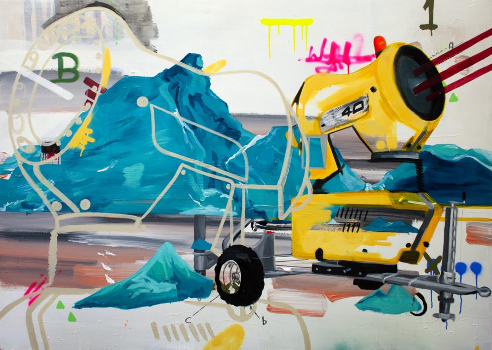 Solución: Cañón de nieve |Dibujo de Alejandra de la Torre | Compra arte en Flecha.es