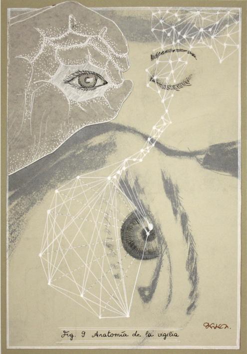 Anatomía de la vigilia |Collage de Sara Calivi | Compra arte en Flecha.es