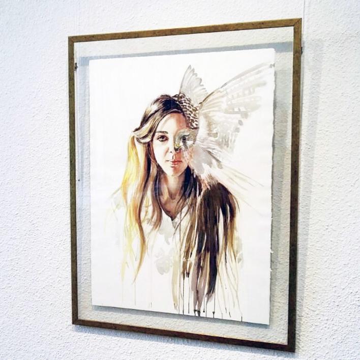 Mujer pájaro / Birdwoman   Dibujo de Macarena Garví   Compra arte en Flecha.es