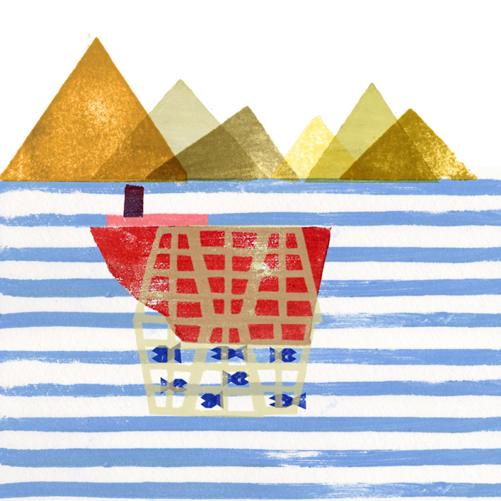 Pesca  y  Dunas |Digital de Teresa Arroyo Corcobado | Compra arte en Flecha.es