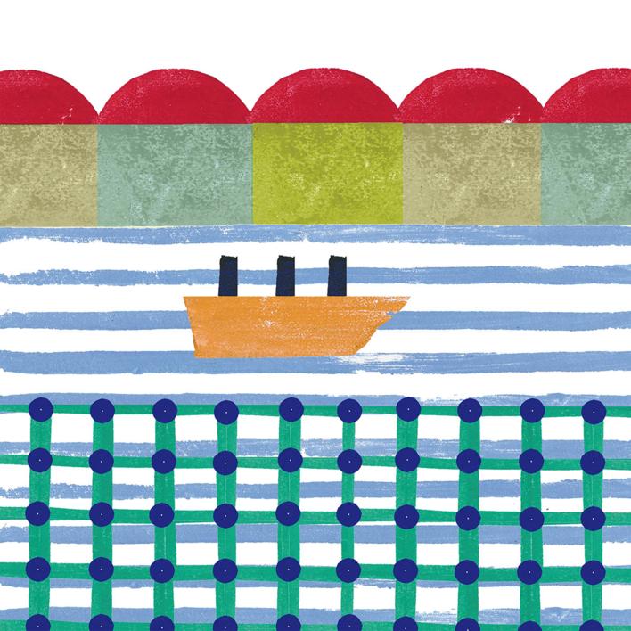 Navegando |Ilustración de Teresa Arroyo Corcobado | Compra arte en Flecha.es