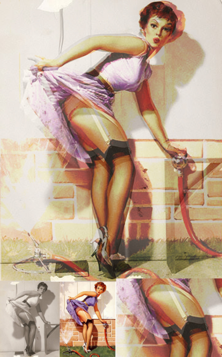 Decontracting Women - PinUp Girl 02 |Collage de Durik | Compra arte en Flecha.es