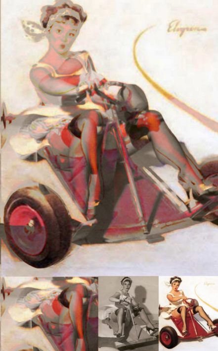 Decontracting Women - PinUp 03 |Collage de Durik | Compra arte en Flecha.es