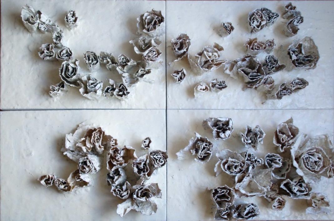 ROSAS BLANCAS |Escultura de beatriz cárcamo | Compra arte en Flecha.es