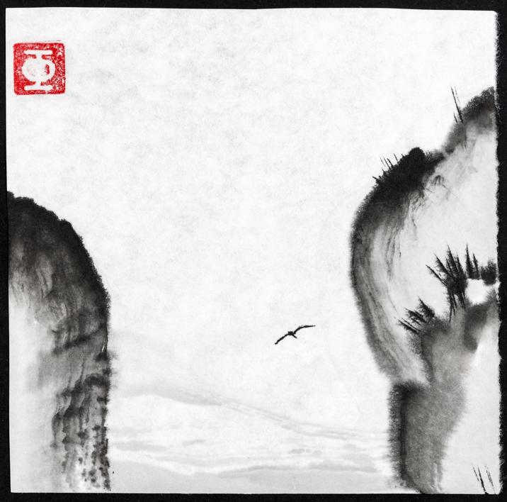 Acantilado- Bambú-Montaña-Soledad |Pintura de Prado de Fata | Compra arte en Flecha.es