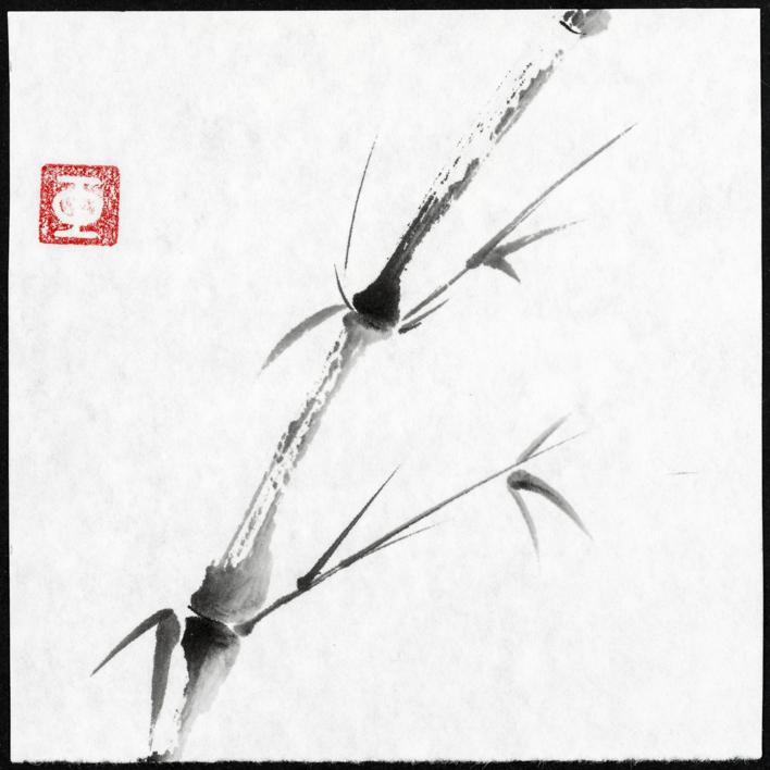 Acantilado- Bambú-Montaña-Soledad | Pintura de Prado de Fata | Compra arte en Flecha.es
