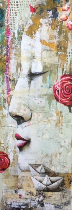 Barcos de papel |Pintura de Menchu Uroz | Compra arte en Flecha.es