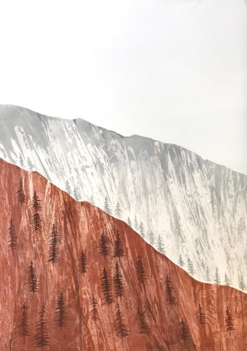 Tierra y rocas |Pintura de Milena Mateva | Compra arte en Flecha.es