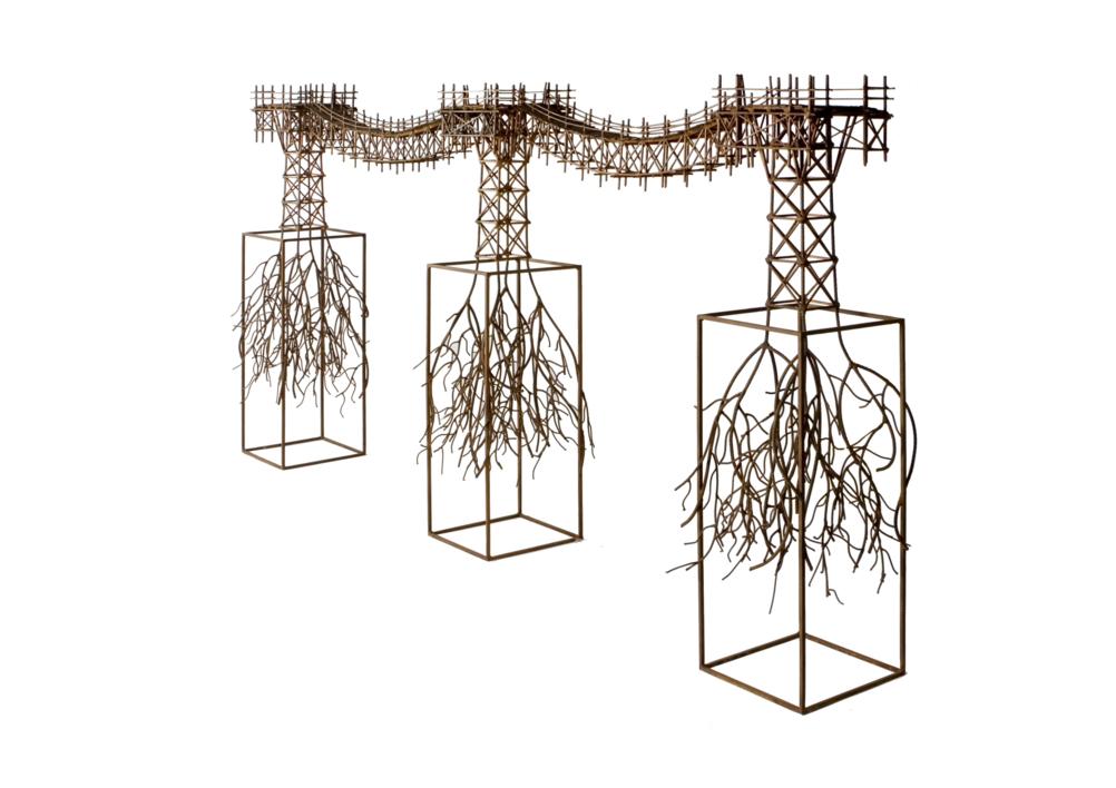 PUENTE ORGÁNICO | Escultura de Fernando Suárez | Compra arte en Flecha.es