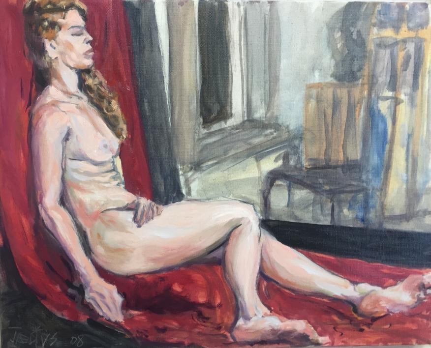 Alexandra  Pintura de Jaelius Aguirre   Compra arte en Flecha.es