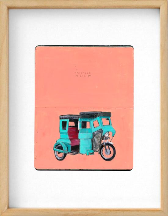 Trycicle in Liliw |Obra gráfica de Pablo Colomo | Compra arte en Flecha.es