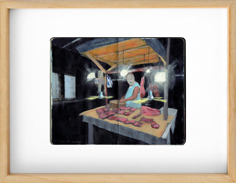 Carnicero de Calamba |Obra gráfica de Pablo Colomo | Compra arte en Flecha.es