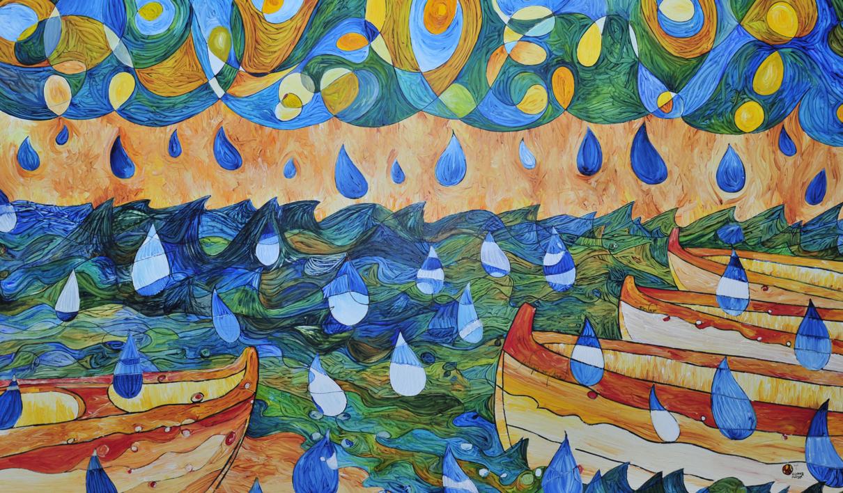 Sant Pol de Mar - Sa Calma |Obra gráfica de richard martin | Compra arte en Flecha.es