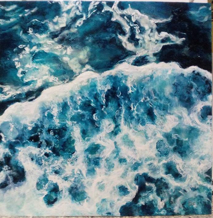 oceanos |Pintura de beatriz cárcamo | Compra arte en Flecha.es