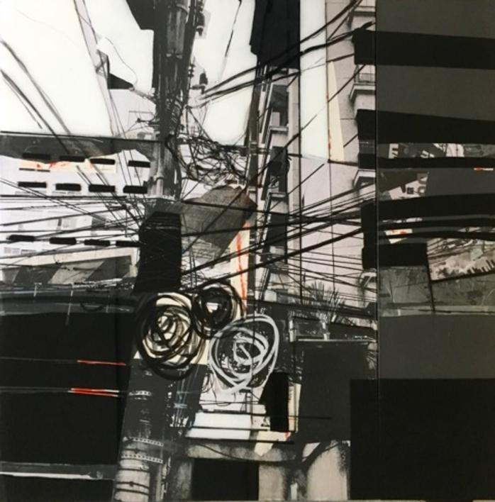 WIRES b&w |Collage de Erika Nolte | Compra arte en Flecha.es
