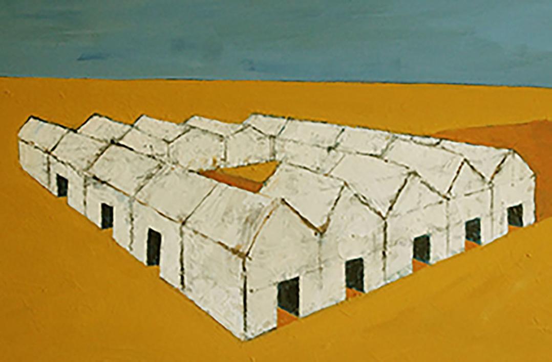 Poblado |Pintura de Ana Pellón | Compra arte en Flecha.es