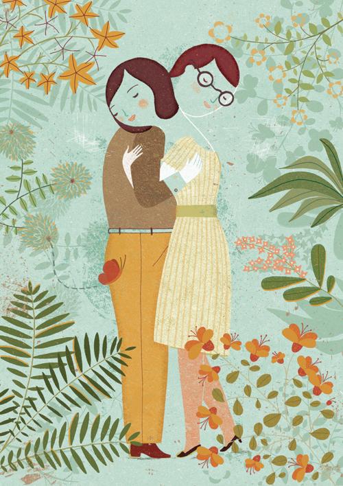 Abrazo |Collage de Marta Antelo | Compra arte en Flecha.es