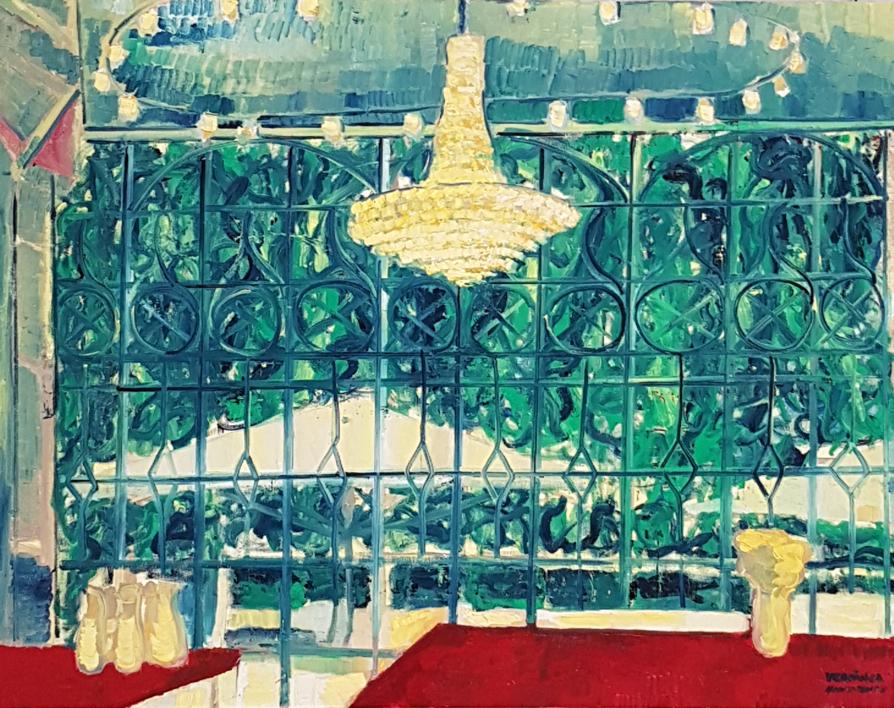 Dinner at Helsinki |Pintura de Verónica Alonso de los Ríos | Compra arte en Flecha.es