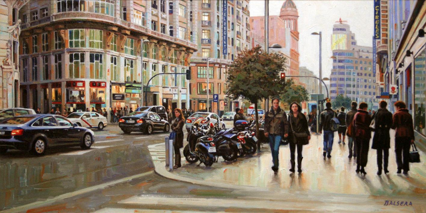 Gran Vía. Madrid |Pintura de BALSERA | Compra arte en Flecha.es