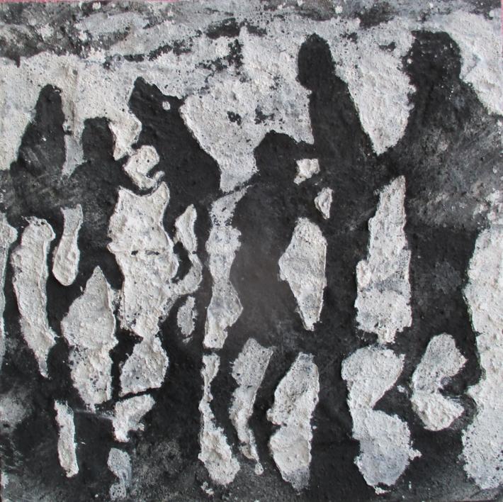 Tarde en la playa negro |Pintura de Alvaro Sellés | Compra arte en Flecha.es