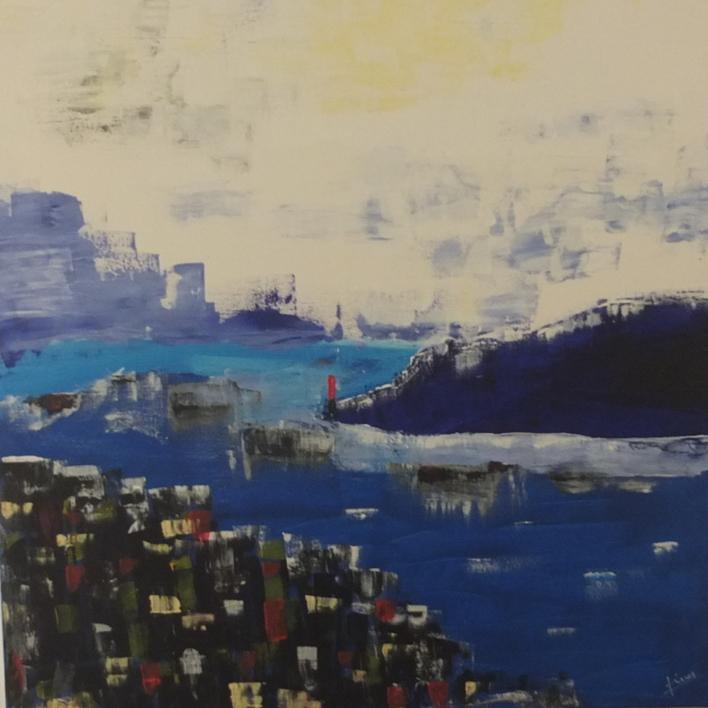 BAHIA |Pintura de Tines | Compra arte en Flecha.es
