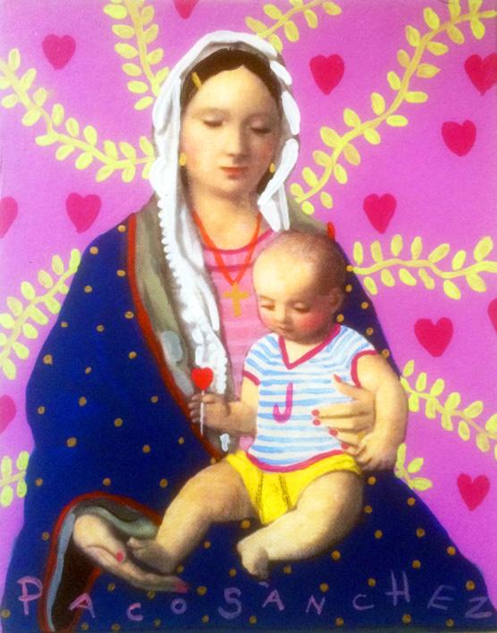 Virgen Guapa del amor de madre |Pintura de Paco Sánchez | Compra arte en Flecha.es