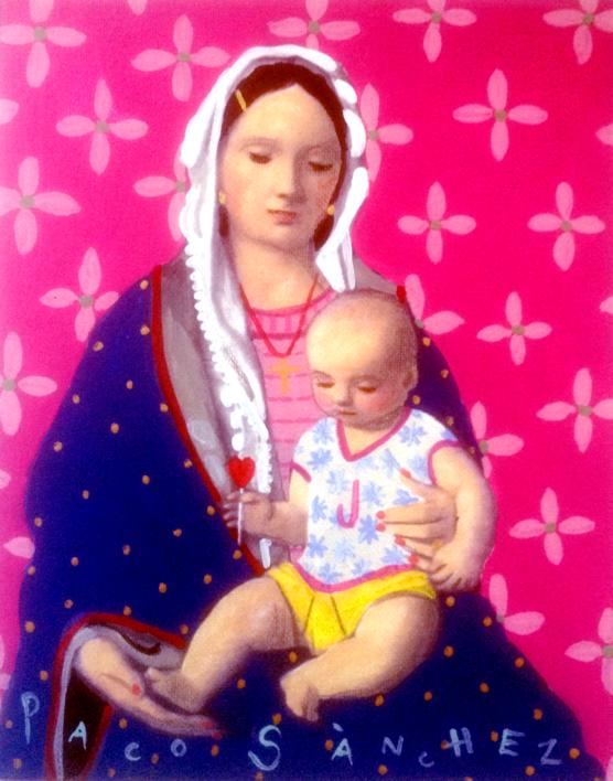 Virgen guapa de las personas jovenes |Pintura de Paco Sánchez | Compra arte en Flecha.es
