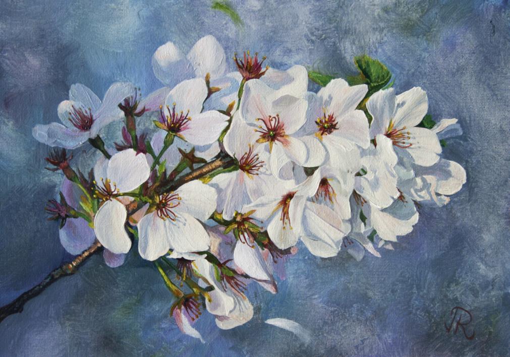 Sakura |Pintura de Javier Ramos Julián | Compra arte en Flecha.es