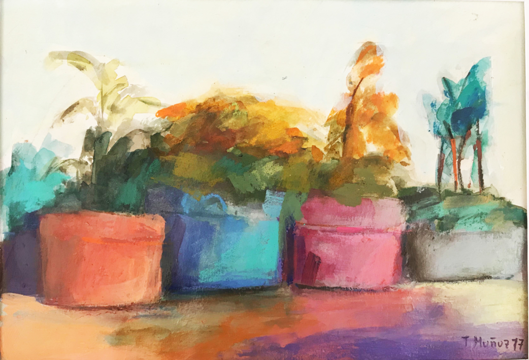 Lugares y Jardines Imaginarios XII |Pintura de Teresa Muñoz | Compra arte en Flecha.es