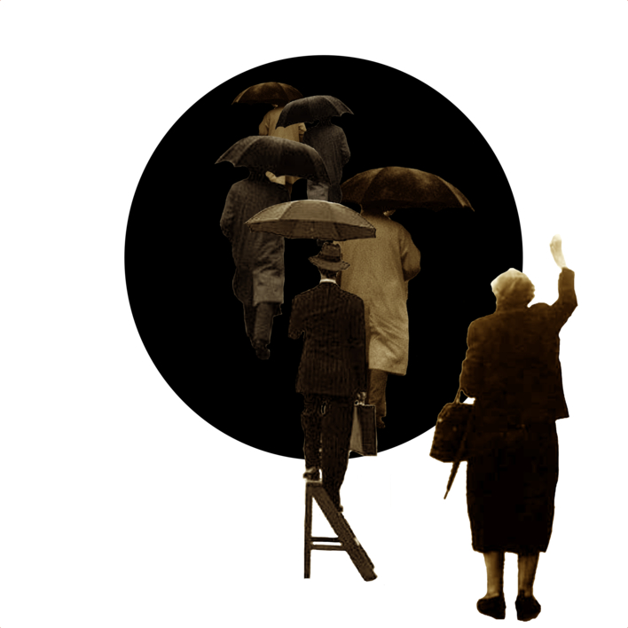 Agujero Negro nº 5 |Collage de Gabriel Aranguren | Compra arte en Flecha.es