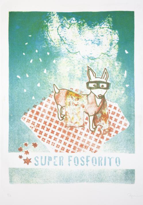 Super Fosforito |Obra gráfica de Marta Aguirre | Compra arte en Flecha.es