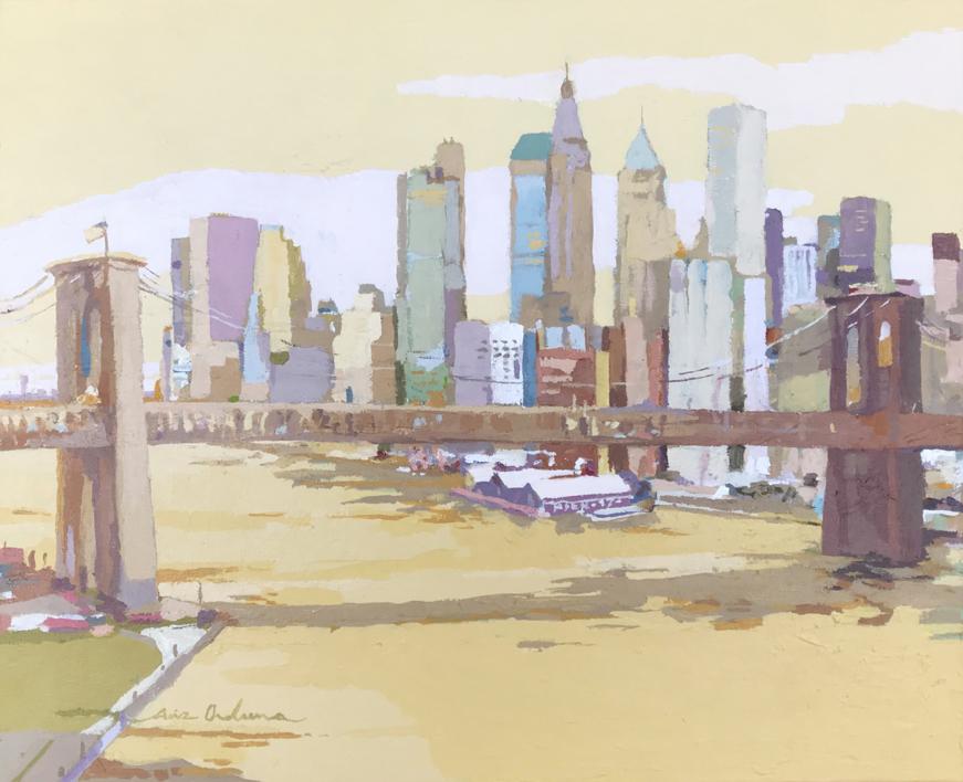 New York New York IV  Pintura de Javier AOIZ ORDUNA   Compra arte en Flecha.es