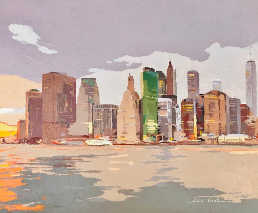 New York New York V  Pintura de Javier AOIZ ORDUNA   Compra arte en Flecha.es