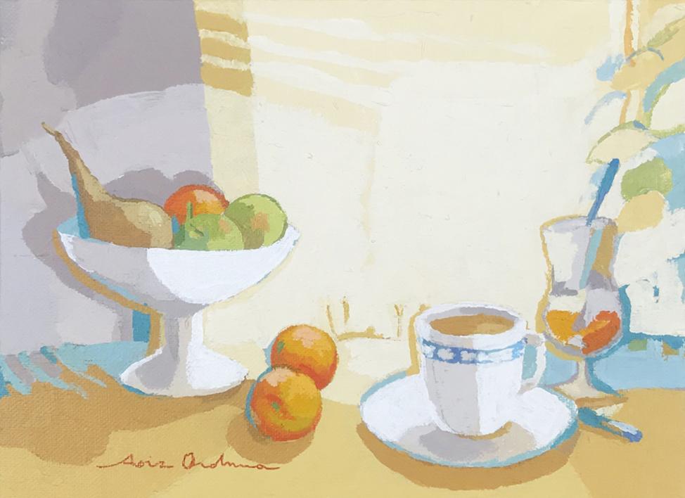Bodegón del desayuno |Pintura de Javier AOIZ ORDUNA | Compra arte en Flecha.es