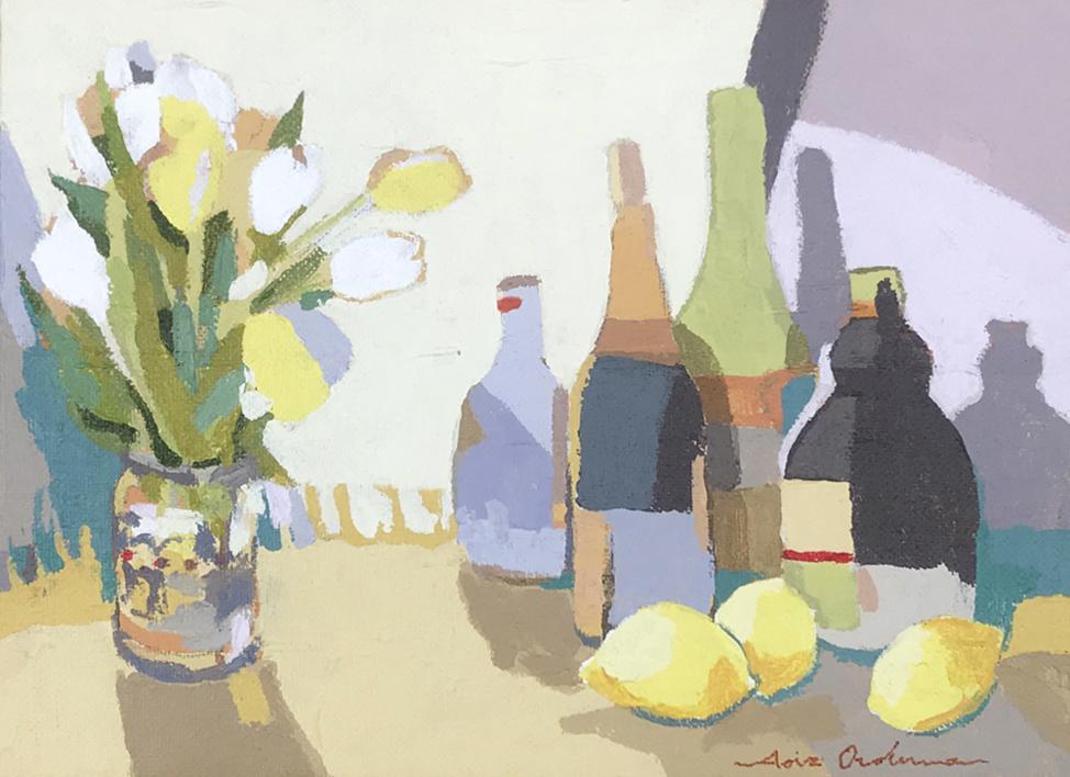 Bodegón de los tulipanes |Pintura de Javier AOIZ ORDUNA | Compra arte en Flecha.es