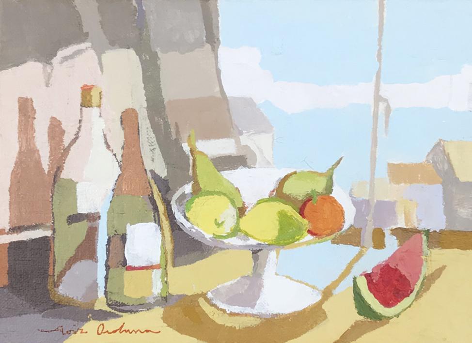 Bodegón de la sandía I |Pintura de Javier AOIZ ORDUNA | Compra arte en Flecha.es